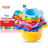 Extasticks Baby Bath Toys - Stacking Cups for Sand, Beach and Water for Toddlers and Kids - 8 Cup Set to Play in Pool…