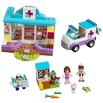 Amazoncom Lego 10728 Mias Vet Clinic Toy For Juniors Toys Games