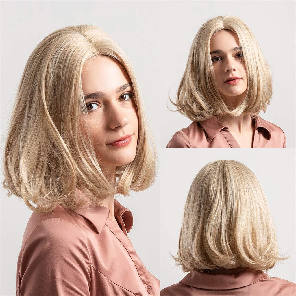 Angelof - Peluca de pelo sintético para mujer, con encaje grueso ...