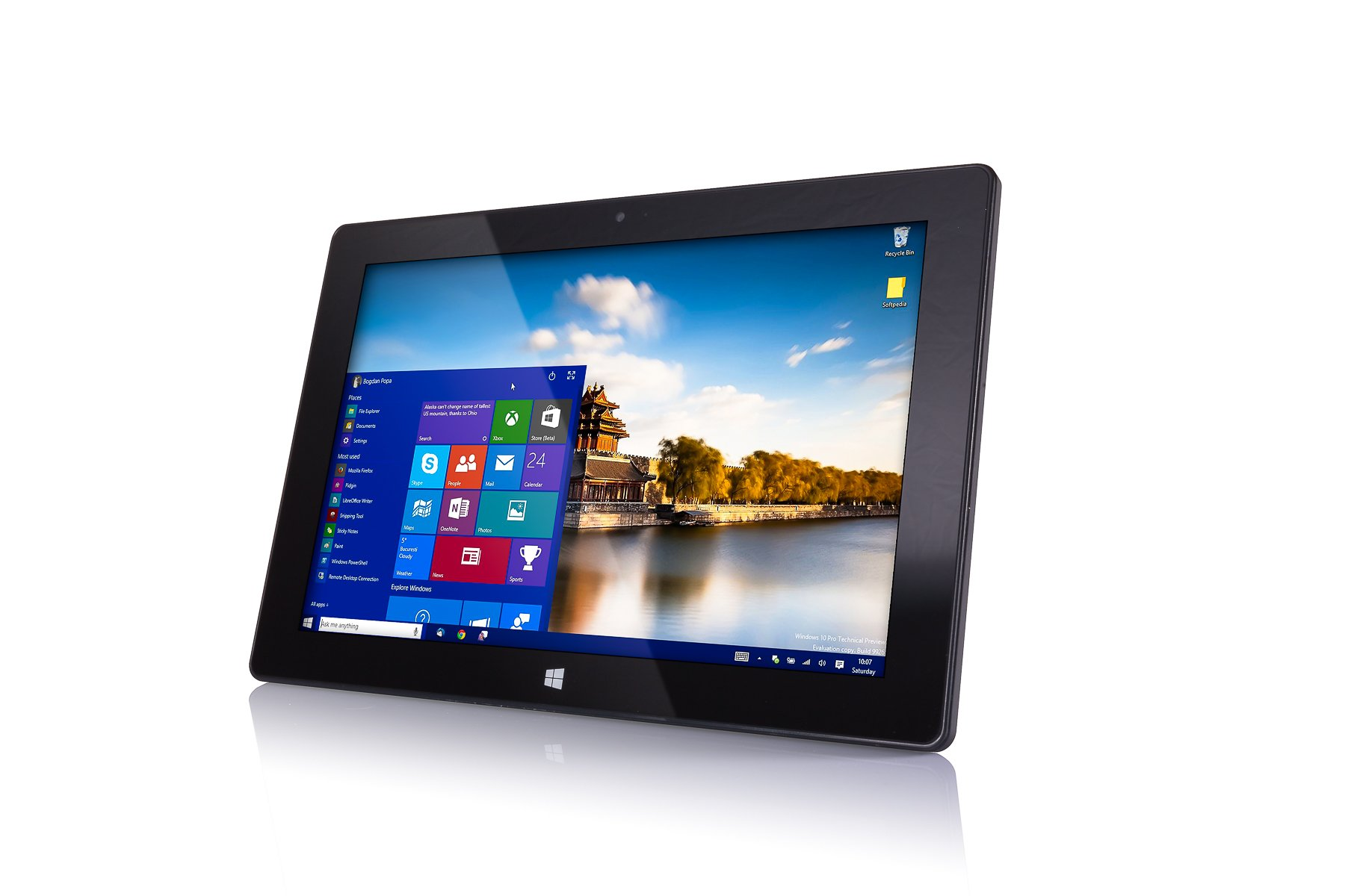 10'' Windows 10 Fusion5 Ultra Slim Windows Tablet PC- (4GB RAM, 64GB Storage, FWIN232+ Model, Full Size USB 3.0, Intel Quad-core, 5MP and 2MP Dual Cameras, Bluetooth, October 2018 Model,Windows 10 HOM