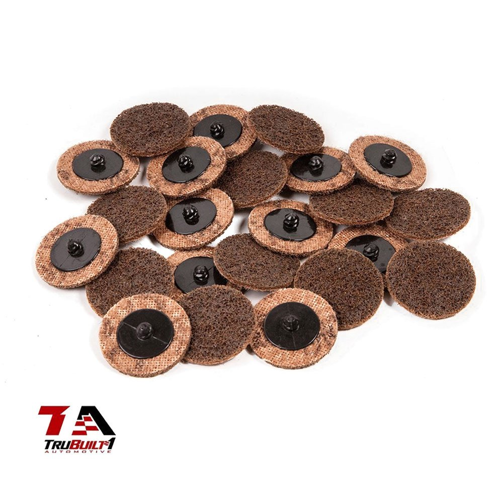 Package of 25 2 inch Grinding Cutting TruBuilt 1 Automotive Conditioning Disc SC-DB Coarse 2 Cutoff Disks Type R Compare to 3M 07480 ROLOC 2 Coarse Surface Conditioning Discs