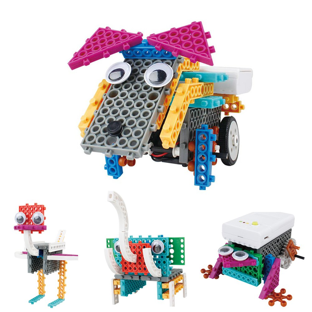 Electric Animal Block Building Kit, STEM Robot Kit of Building Games, Engineer Construction Toy of 12 Styles including Rabbit, giraffe, Dog, Ostrich and So On (Animals)