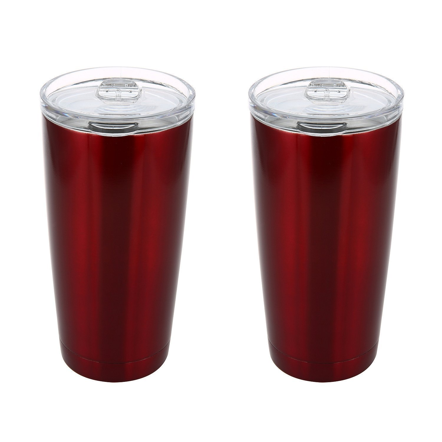 Member's Mark Stainless Steel Vacuum Insulated Tumblers 2 Pack 20 Oz 30 Oz (Red, 20 oz)