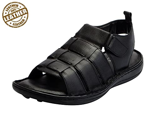 0f2ef89818ad FAUSTO Men s Genuine Leather Outdoor Floaters and Sandals  Buy ...