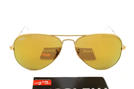 d25e074985 New RAY BAN Sunglasses Authentic RB 3025 112 93 Brown Mirror Gold Lenses AVIATOR  58mm