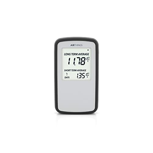 Corentium Home Radon Detector by Airthings 223 Portable, Lightweight, Easy-to-Use, 3 AAA Battery Operated, USA Version, pCi L
