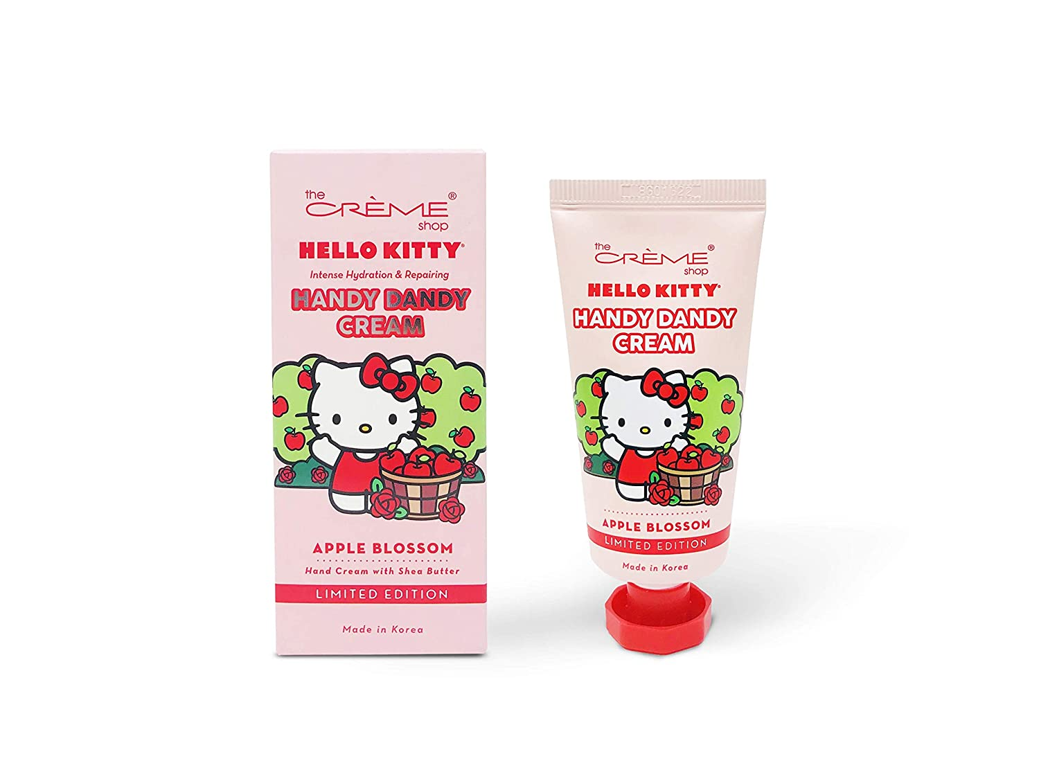 The Crème Shop Korean Cute Scented Pocket Portable Soothing Advanced Must-Have on-the-go - The Crème Shop x Sanrio Hello Kitty Handy Dandy Cream(Apple Blossom)