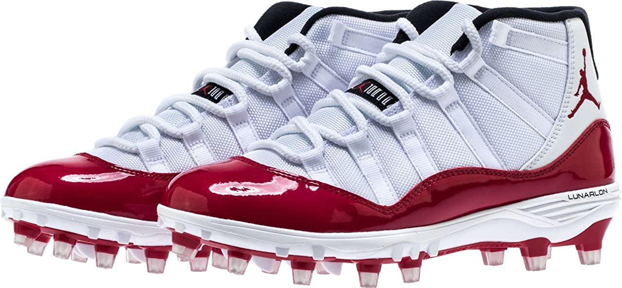 timeless design a83c0 a4a66 Amazon.com   NIKE Men s AIR Jordan XI Retro TD Football Cleat White Gym RED  (11 D(M) US)   Basketball