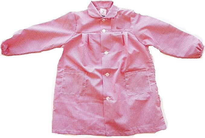 ESCOLAIN - Mandilón colegio para Niño - Color - Cuadro pequeño rosa y blanco - Talla - 8: Amazon.es: Ropa y accesorios