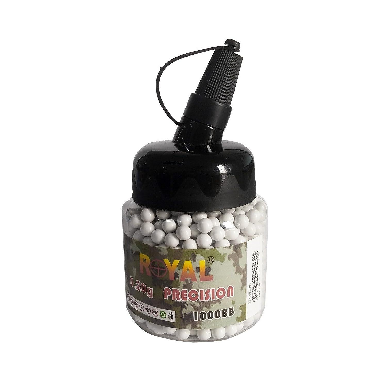 1000 Pallini per Softair Soft Air 6mm 0,20 gr BB Royal Precision Alta Qualità Area shopping