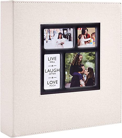 Photo Album 4x6 500 Pockets Photos 500pockets Beige Extra Large Capacity Family Wedding Picture Albums Holds 500 Horizontal And Vertical Photos Home Decor Go Home Kitchen