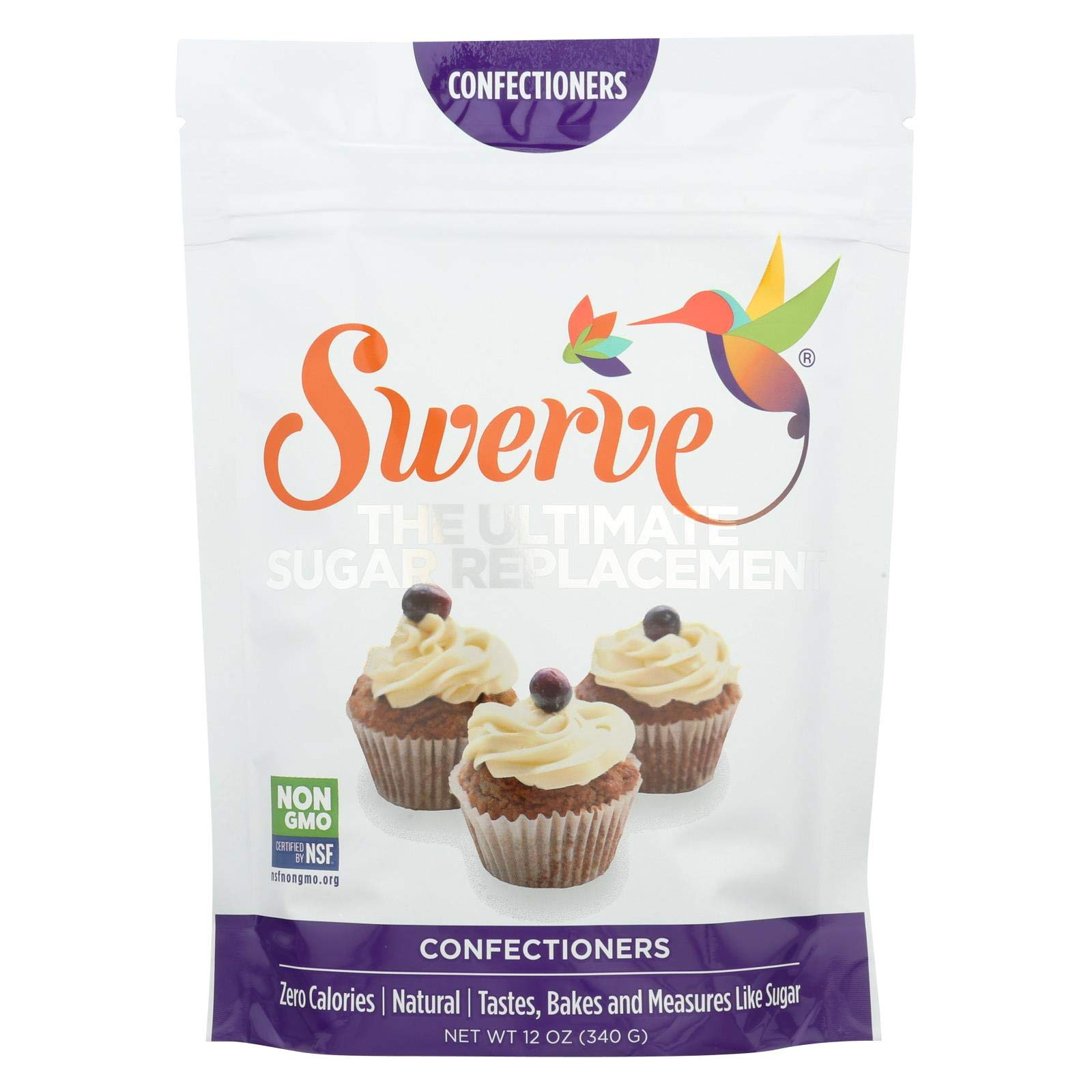 Swerve Sweetener, Confectioners, 12 oz bag (Pack of 3) by Swerve