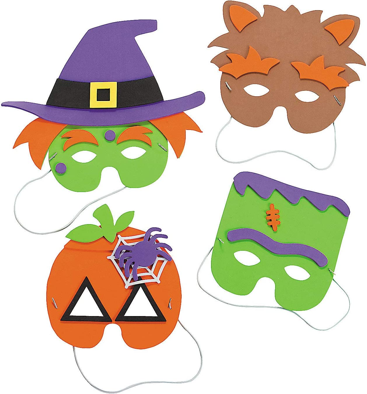Amazon.com: Halloween Mask Craft Kit - Crafts for Kids & Hats ...
