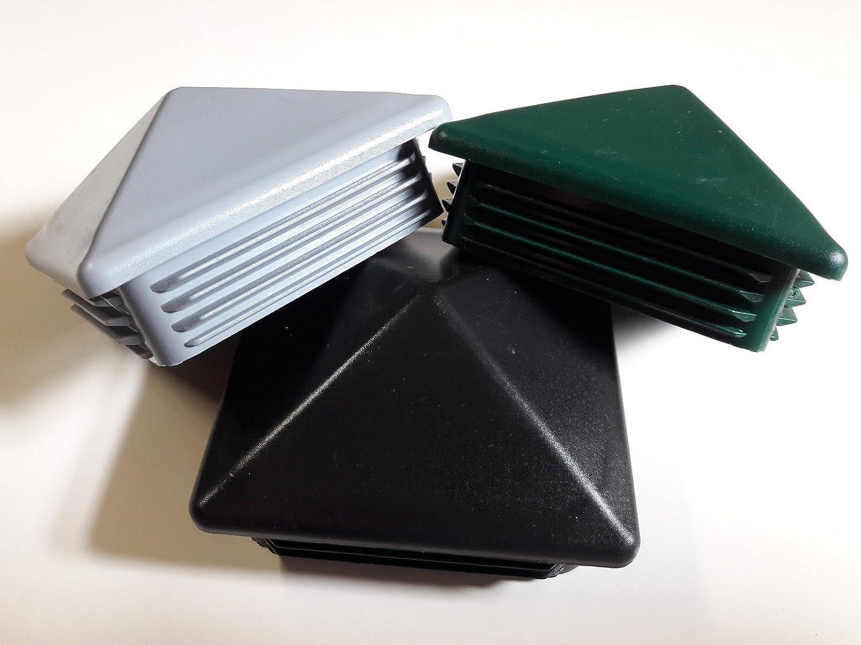 10 St/ück Zaun Pfostenstopfen 15x15mm Grau Pyramidenf/örmig