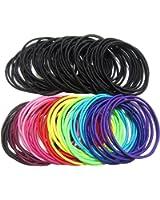 (ジョーダイ) Joudai 細め ブラック カラー ヘアゴム 100本 ヘアアクセサリー 黒 基本ヘアゴム 髪飾り 髪留め SA-344
