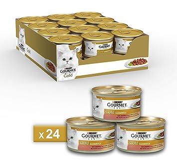 Gourmet Gold Casserole para el Gato, con Pato y Pavo en Salsa, 85 g