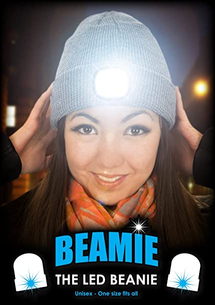 bf0683ed19a  Beamie The LED Beanie Hat in Grey  Amazon.co.uk  Kitchen   Home