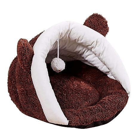 Mascotas Perros Camas, ❤ Zolimx Cama para Mascotas Redonda o de Forma Oval Dimple