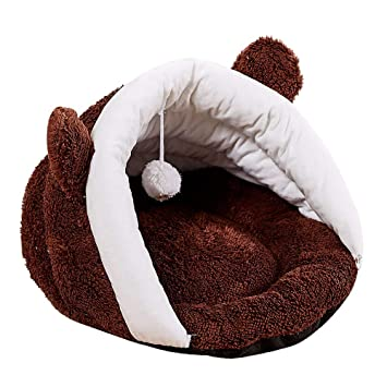 Mascotas Perros Camas, ❤ Zolimx Cama para Mascotas Redonda o de Forma Oval Dimple Fleece Nesting Perro Cueva para Gatos y Perros Pequeños: Amazon.es: ...
