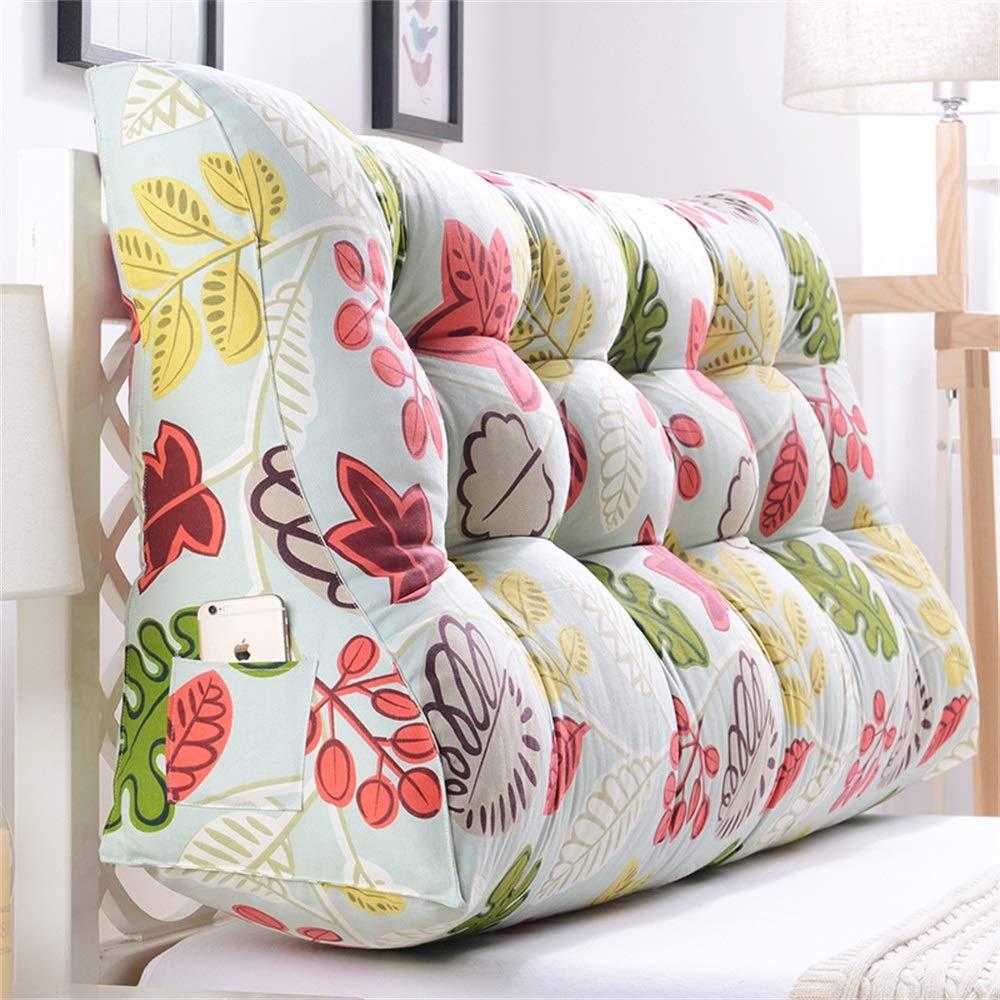 GLP ベッドサイドクッション三角背もたれ腰のソファ大きな枕張りパッド22色&8サイズで取り外し可能 (Color : P, Size : 150x30x60cm) B07S3N4X48