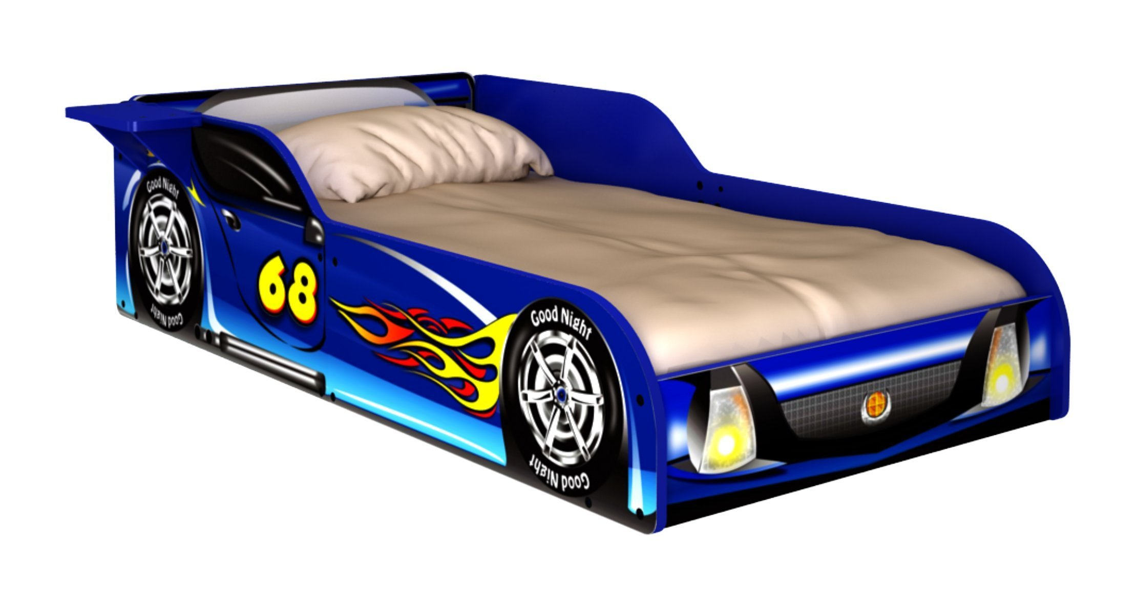 Rack Furniture Blue Racer Race Car Toddler Bed
