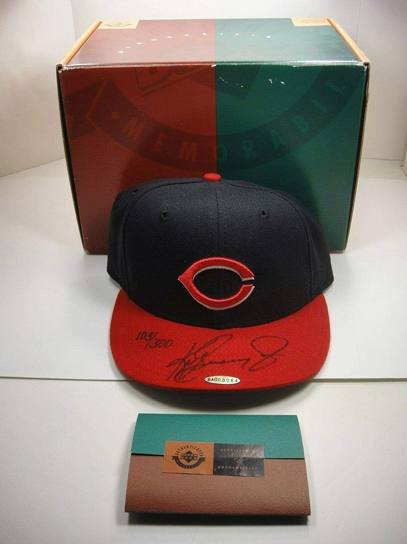 a4f5121b0a38d Ken Griffey Jr. Authenticated Signed Autograph Reds Hat 103/300 ...