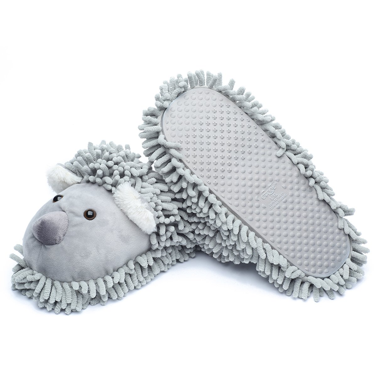 Ofoot Winter Warm Plush Anti-slip Indoor Animal Slippers for Women and Men (M/L 8-10 B(M) US, Grey(Koala)) by Ofoot (Image #7)