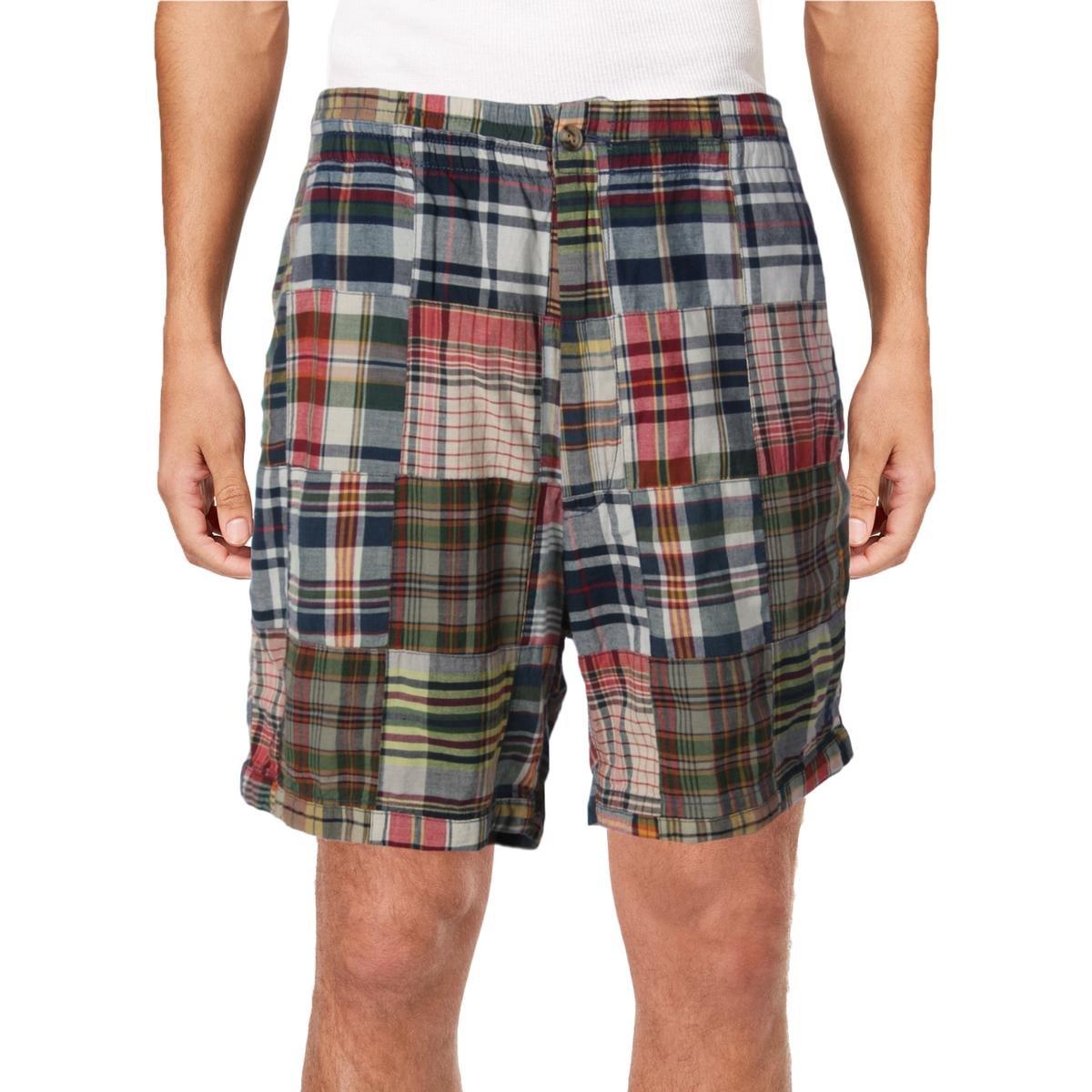 Polo Ralph Lauren Mens Plaid Classic-Fit Casual Shorts Navy M