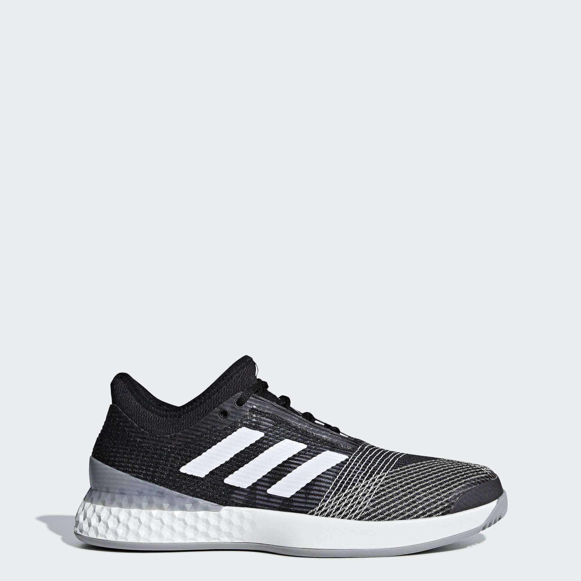 adidas Men's Adizero Ubersonic 3, black/white/light granite, 10 M US by adidas