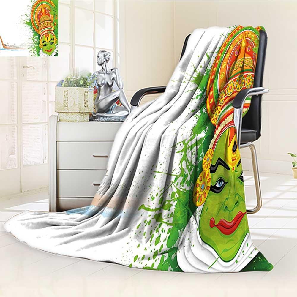 AmaPark Digital Printing Blanket Asian Ritualistic Asian Ceremonial Dance Figure and Boat Summer Quilt Comforter