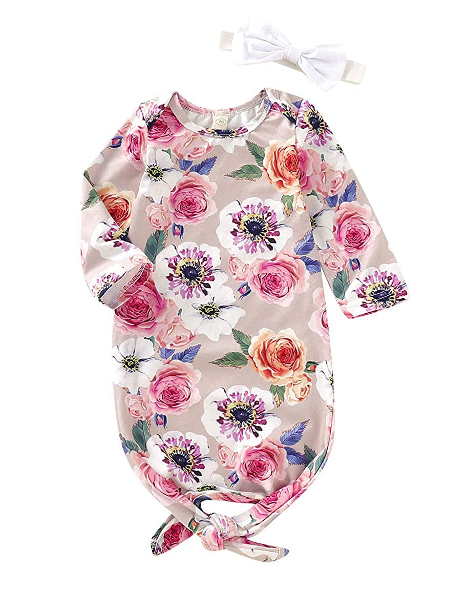 Newborn Baby Girl Floral Gown Coming Home Outfit Baby Girl Gift