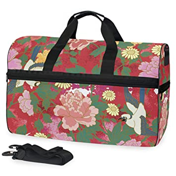 a5a06554f81559 Amazon.com | Chinese Bulbuls Travel Duffel Bag, Sports Gym Bag With Shoes  Compartment Large Capacity Lightweight Duffle Bag For Men Women | Sports  Duffels