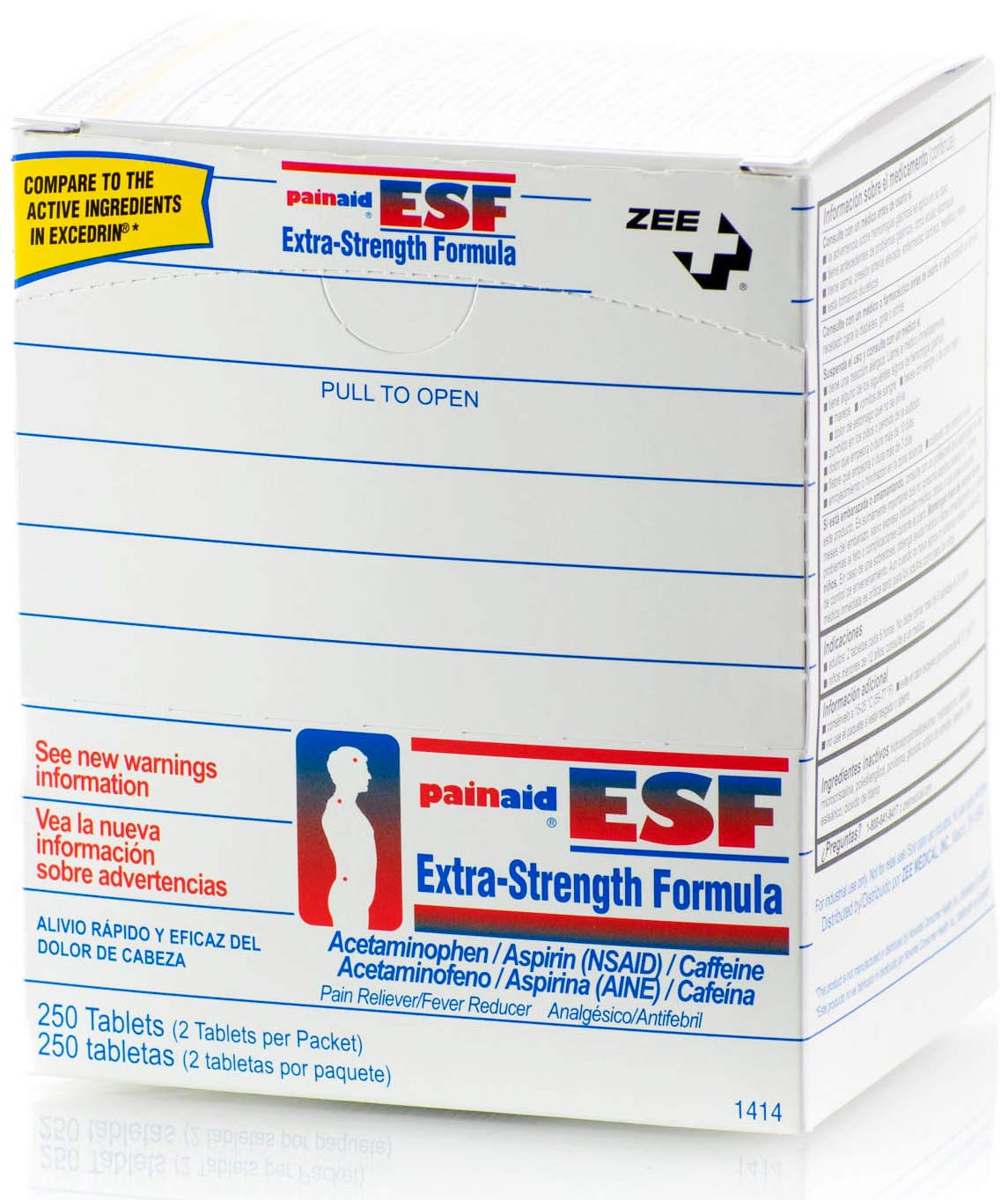 PainAid Extra Strength - Pain Relief - Refill Box - 250 Tablets by PainAid Extra Strength