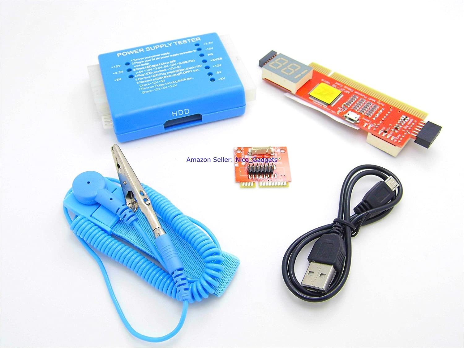 New Complete Pc Laptop Motherboard Cpu Power Supply Diagnostic Test Kit Amazon Co Uk Computers Accessories