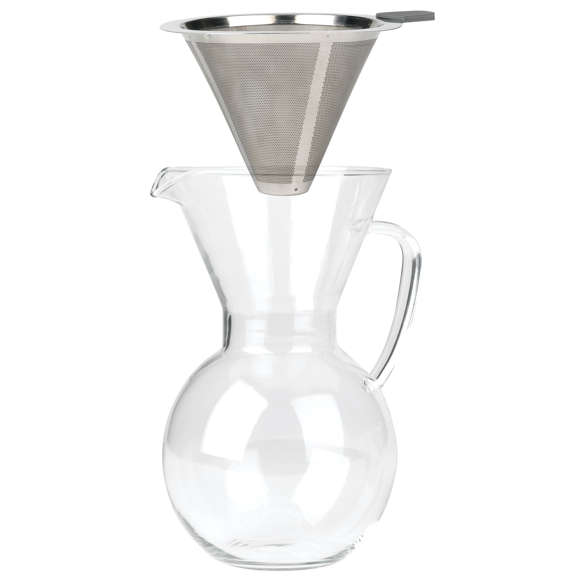 Bailetti Pourover Drip Coffee with Glass Carafe