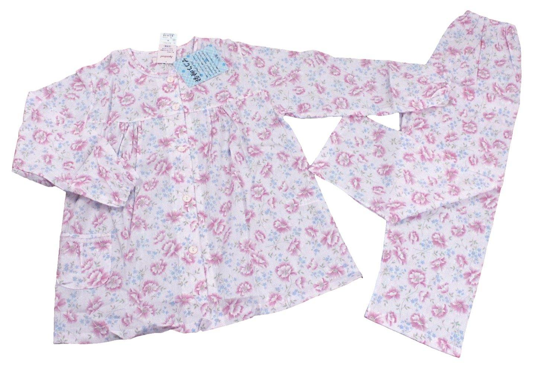 婦人用 柄おまかせパジャマ ちぢみ L ピンク バスト8694cm MO-WP-L-PN B074C9M1Z2 Large|ピンク ピンク Large