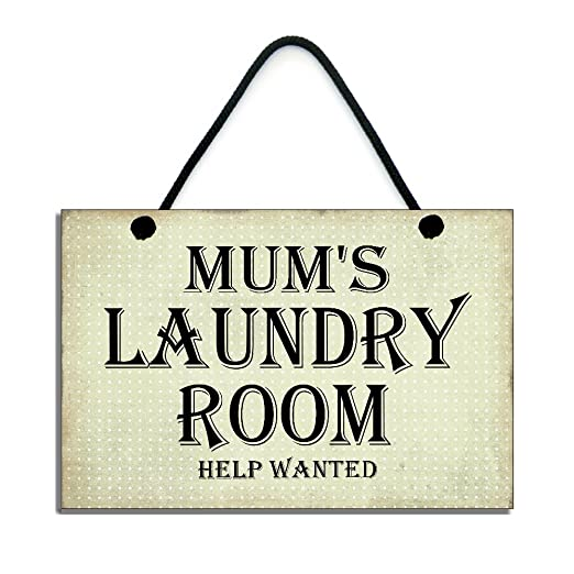 Mums Laundry Room Help Wanted» cartel de madera hecho a mano ...