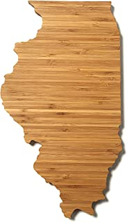 product image for AHeirloom: The Original Illinois State Shaped Serving & Cutting Board. (As Seen in O Magazine, Good Morning America, Real Simple, Brides, Knot.) Made in the USA from Organic Bamboo, Large 15""