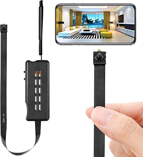 Spy Camera Module Wireless Hidden Camera WiFi Mini Cam HD 1080P DIY Tiny Cams Small Nanny Cameras Home Security Live Streaming Through Android iOS App Motion Detection Alerts
