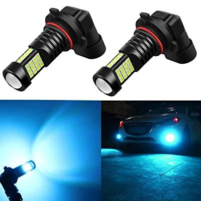Alla Lighting 2000 Lumens High Power 3030 36-SMD Extremely Super Bright 8000K Ice Blue 9006 HB4 LED Bulbs for Fog Driving Light Lamps Replacement: Automotive