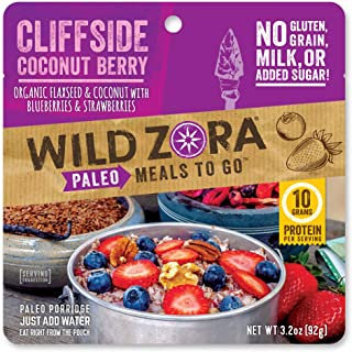 product image for Wild Zora Paleo Meals To Go - Cliffside Coconut Berry - Freeze Dried Meal for Backpacking and Camping - Vegan Breakfast, Gluten Free, Grain Free, No Added Sugar - (Single Serving)