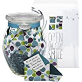 Glass KindNotes MOM Keepsake Gift Jar of Messages for Mothers Birthday, Just Because, Mother's Day - Colorful Splash