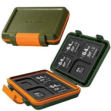 ELECOM - Funda para 8 Tarjetas SD y 8 microSD, Resistente a ...