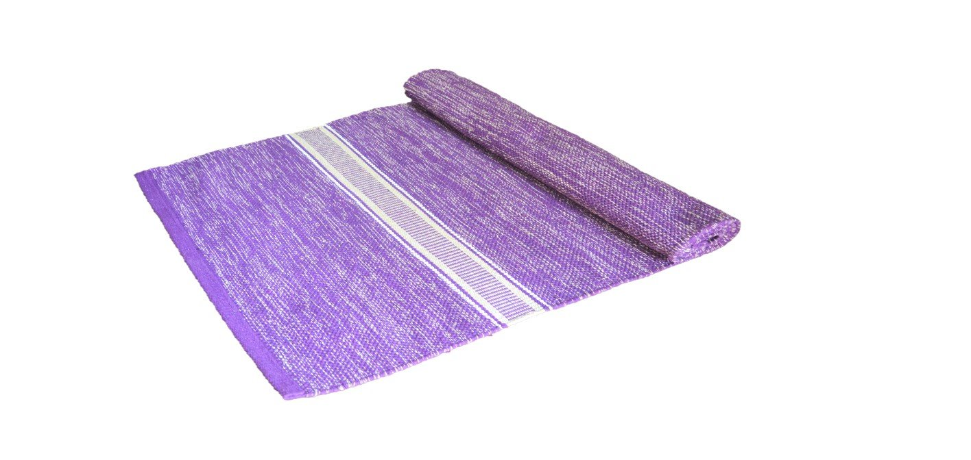 M.Y.S Organic, Cotton Yoga mat, made from natural Yarn,handmade, ecofriendly, sweat Absorbing, antiskid,washable, Size 27x75 Inches, all purpose mat- yoga/meditation/sport comes with free carry bag
