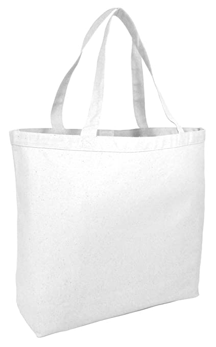 5091ecfbd Image Unavailable. Image not available for. Color: BagzDepot Large Canvas  Tote Bags - 12 Pack Heavy Duty ...
