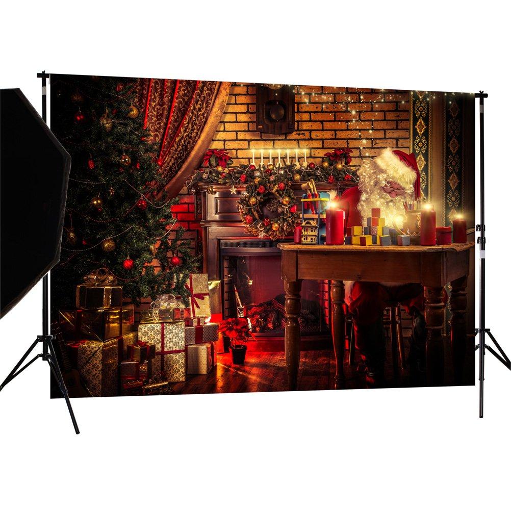1,5m XM03A CapiSco No/ël Cadeaux de Santa Minces de Vinyle D/écors photographie toile de Fond Contexte backdrop pour Photo Studio 2,1