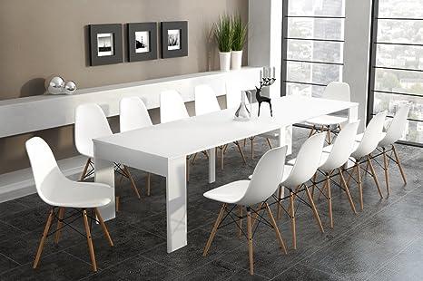 Home Innovation - Tavolo consolle allungabile fino a 301cm, bianco ...
