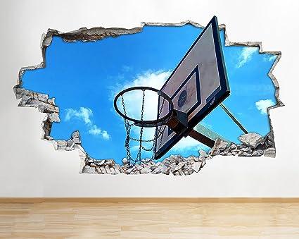 tekkdesigns d167 Baloncesto Deporte Kid Cool Smashed Adhesivo ...