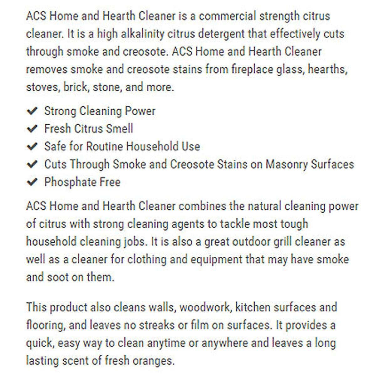 amazon com acs home u0026 hearth cleaner kitchen u0026 dining