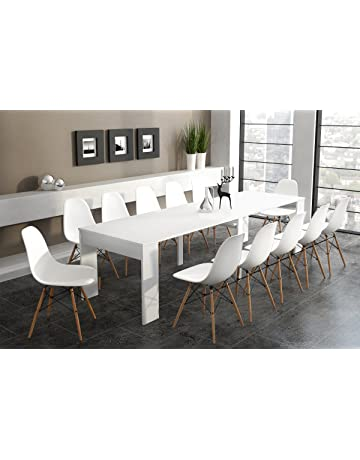 Home Innovation - Table Console Extensible rectangulaire avec rallonges,  jusqu à 300 cm, ac4a03bd1e8d